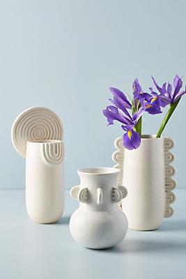 Slide View: 8: Textured Ivory Vase