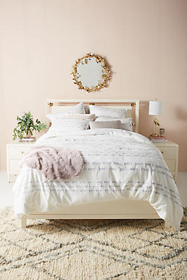 Slide View: 1: Ribbon-Embellished Duvet Cover