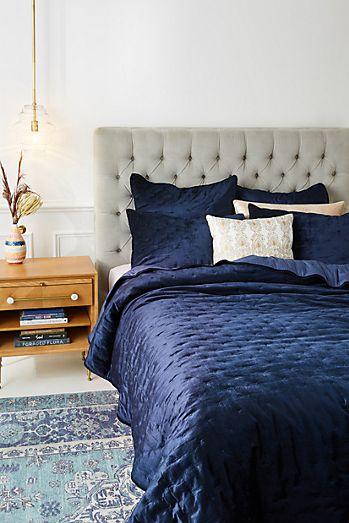 velvet cross stitched quilt - Velvet Bedding