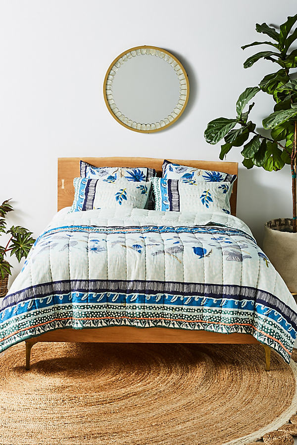 Kirby Quilt - Blue, Size Full