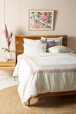 Slide View: 1: Embroidered Knollwood Duvet Cover