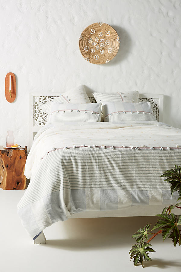 Tasselled Rayas Duvet Cover - Assorted, Size Q Top/bed