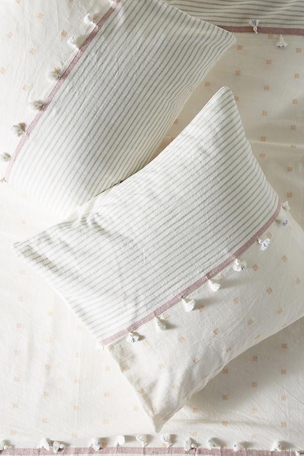 Tasselled Rayas Square Pillowcase - Assorted, Size Euro Sham