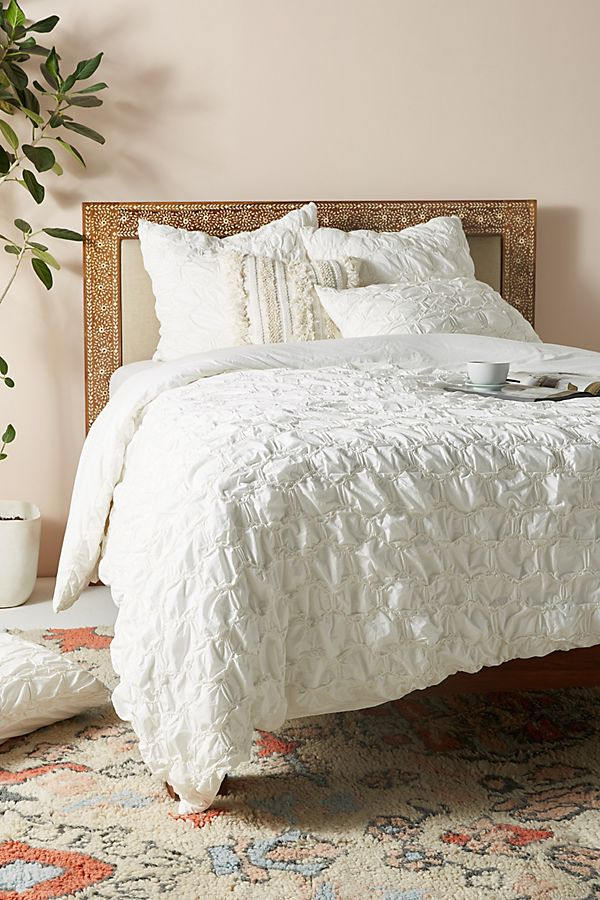 Slide View: 1: Ruched Hampshire Duvet Cover