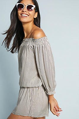 Slide View: 1: Eberjey Jami Off-The-Shoulder Romper