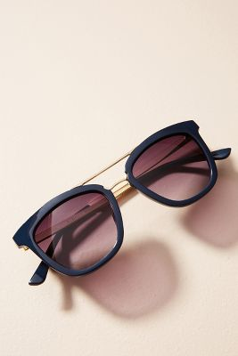 Tasma Brow-Bar Sunglasses  -    BLUE MOTIF