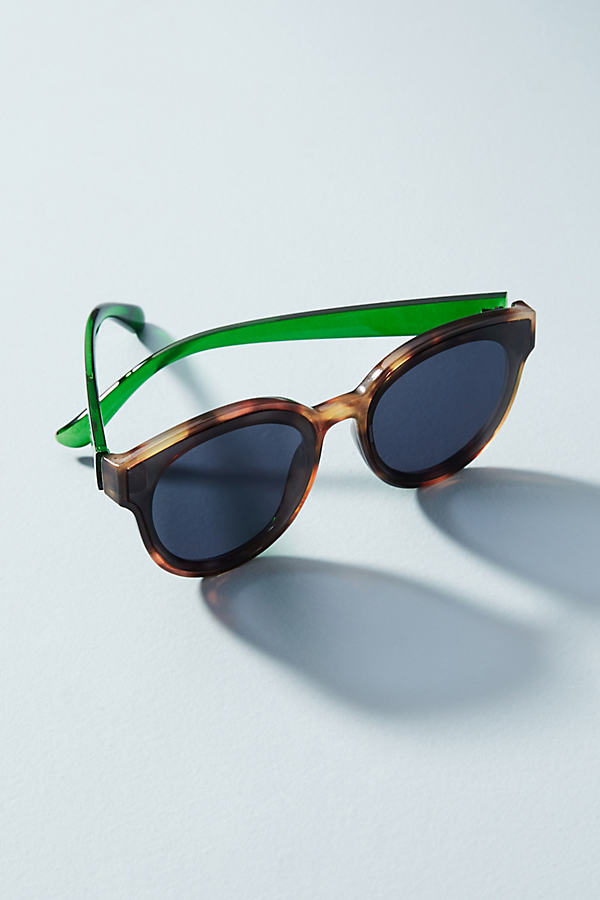 Louise Oversize-Sonnenbrille - Brown Motif