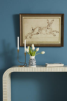 Slide View: 1: A Hare Running Wall Art