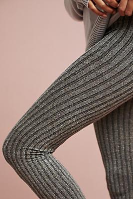 Slide View: 1: Tweed Ribbed Leggings