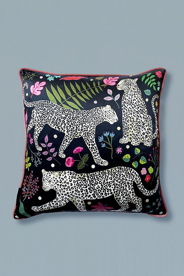 Karen Mabon Snow Leopard Cushion