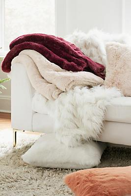 Slide View: 2: Fireside Faux Fur Pillow