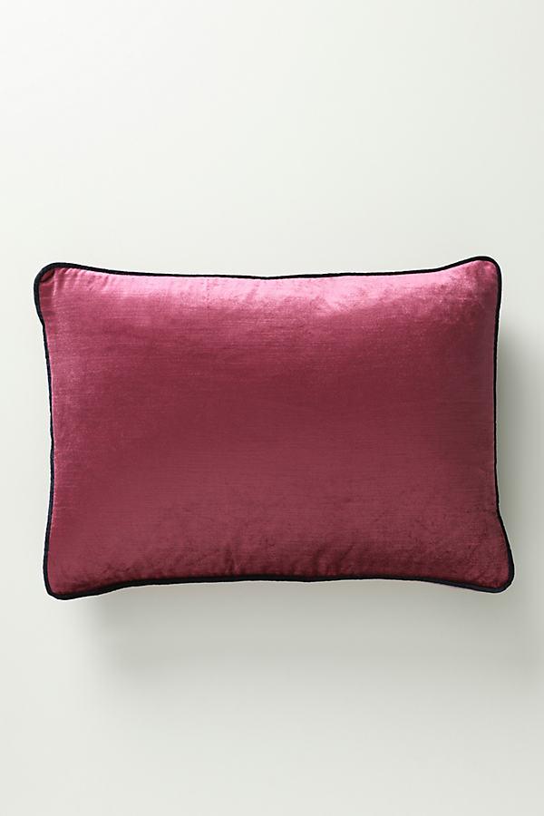 "Louise Velvet Cushion - Purple, Size 14"" X 20"""