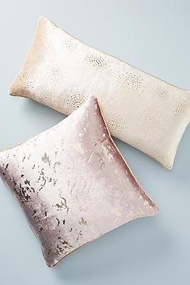 Slide View: 3: Gilded Velvet Pillow