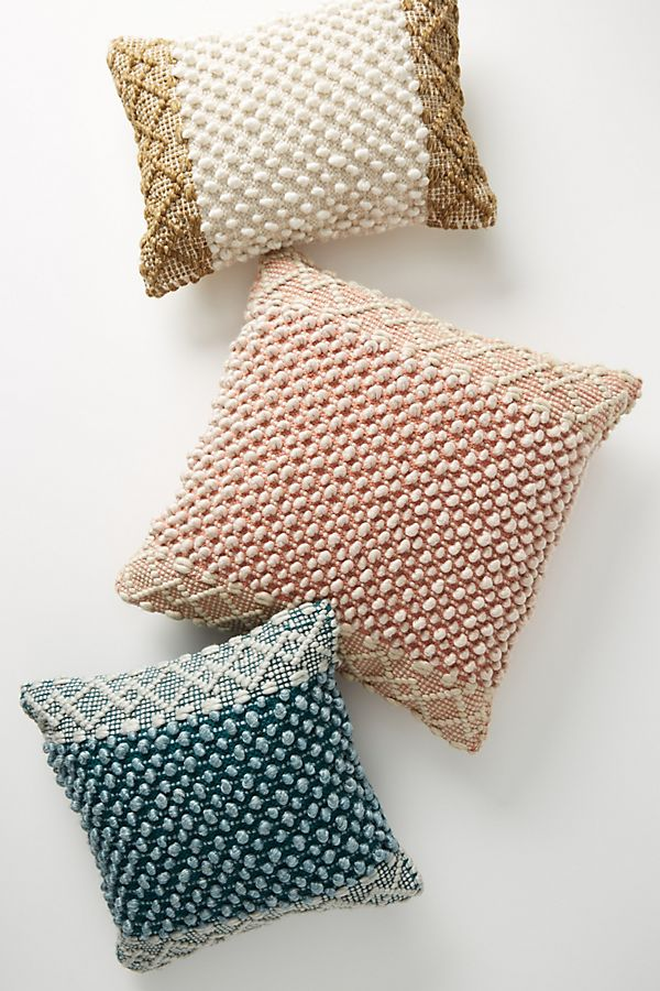 Slide View: 1: Joanna Gaines for Anthropologie Textured Eva Pillow