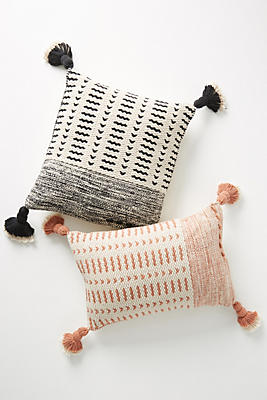 Slide View: 1: Joanna Gaines for Anthropologie Tasseled Olive Pillow
