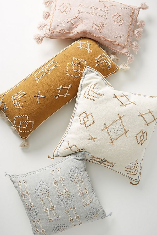 Slide View: 1: Joanna Gaines for Anthropologie Embroidered Sadie Pillow