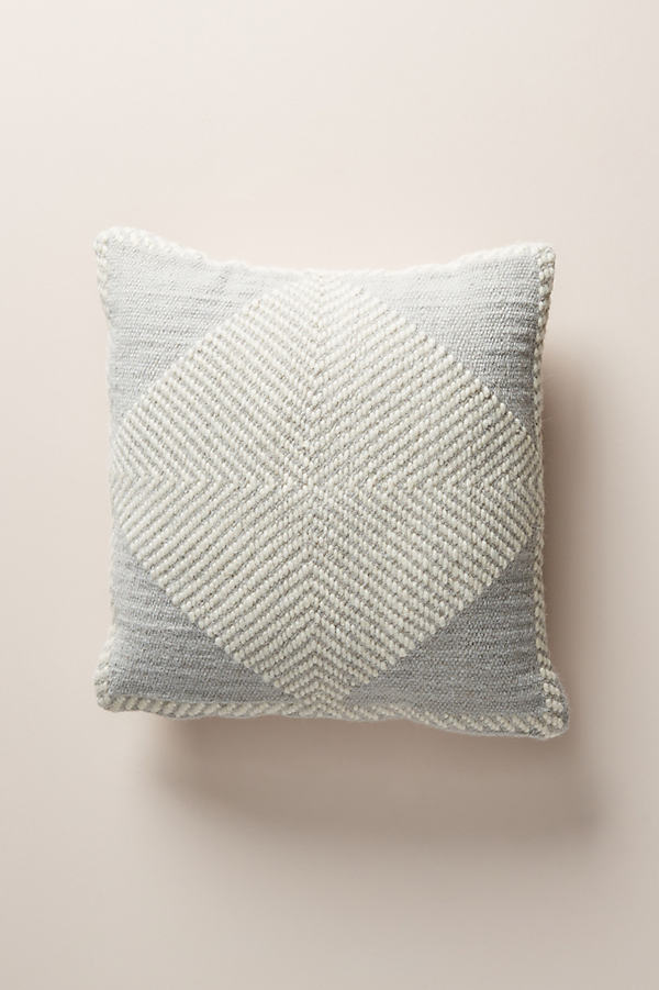 "Evie Cushion - Grey, Size 18"" Sq"