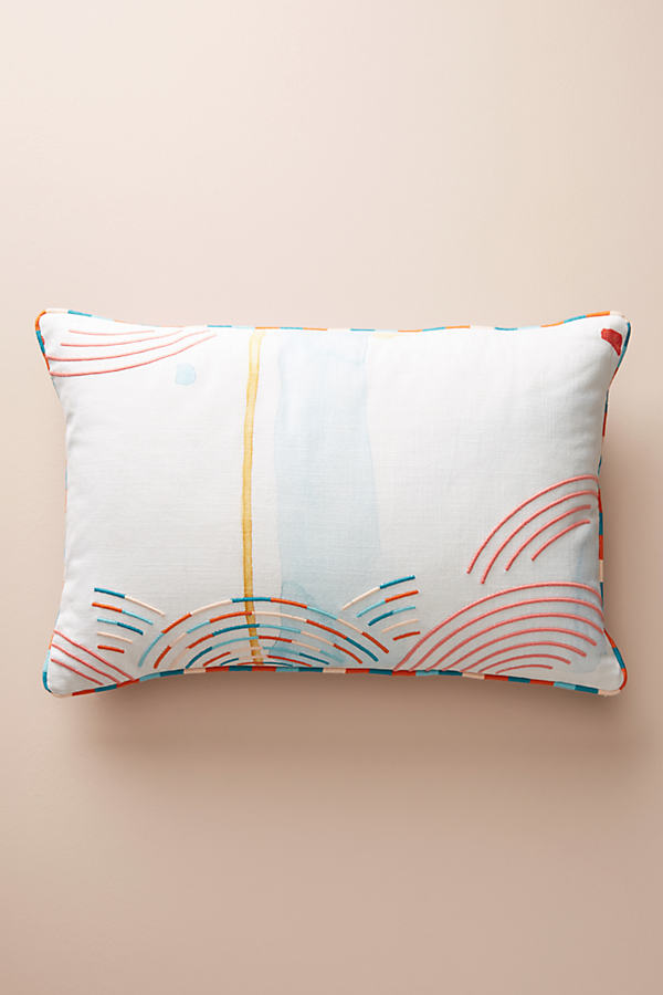 "Abstract Watercolour Cushion - A/s, Size 16"" X 24"""