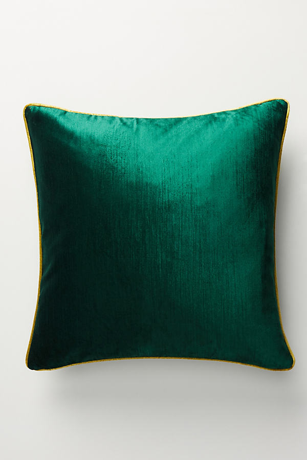 Adelina Velvet Cushion - Green, Size King Bfrm
