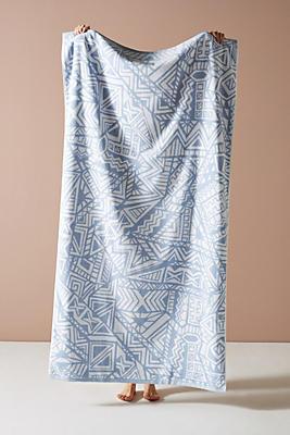 Slide View: 1: Mixed Geo Beach Towel