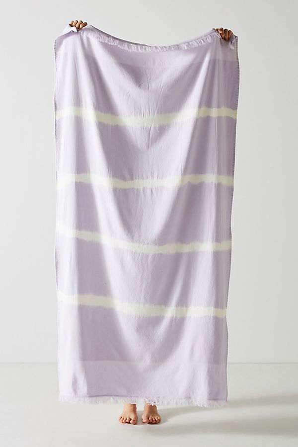 Slide View: 1: Stripe-Dyed Beach Towel
