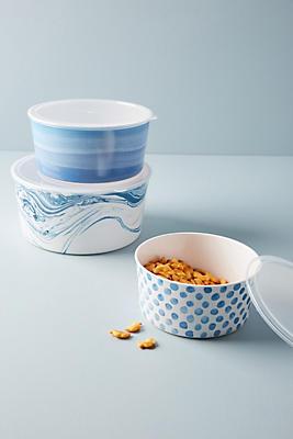 Slide View: 1: Caelan Melamine Storage Bowl