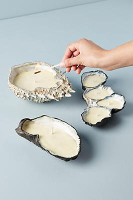 Slide View: 4: Ceramic Oyster Candle