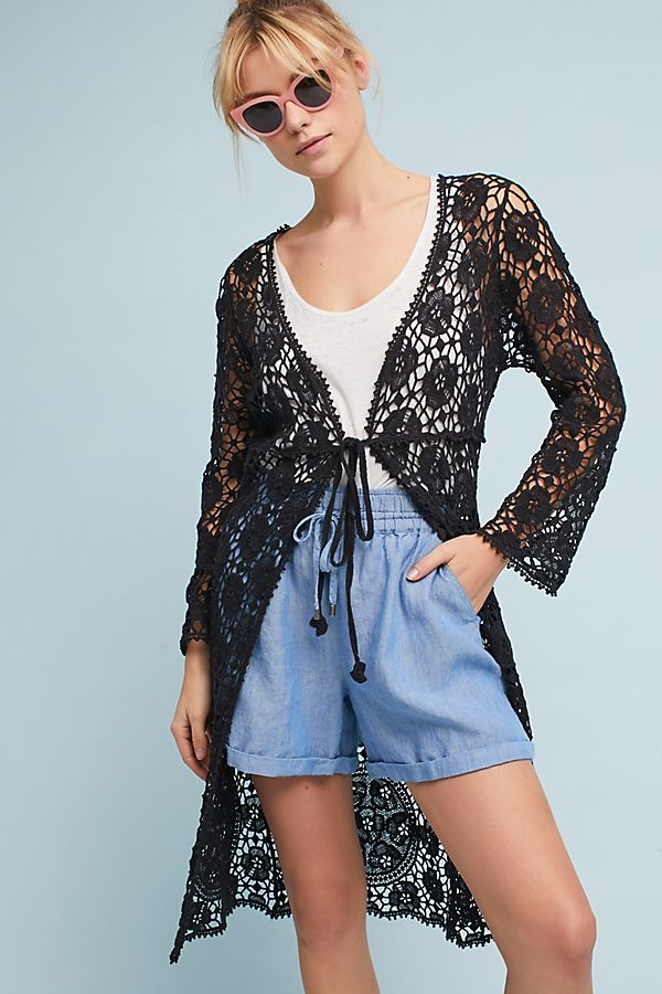 Slide View: 1: Cassandra Crochet Kimono
