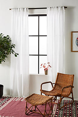 Slide View: 1: Stitched Linen Curtain