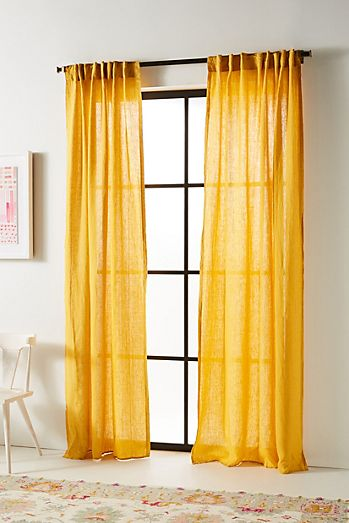 Sched Linen Curtain