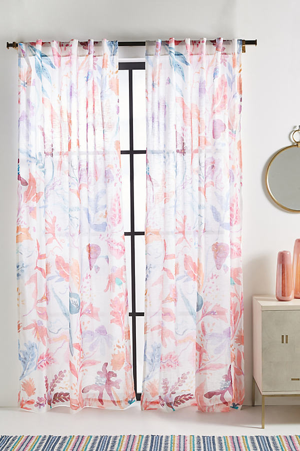 Lisette Curtain - Orange, Size 108""