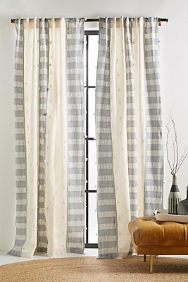 Slide View: 1: Tasseled Moira Curtain