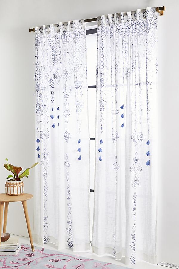 """Nesrin Curtain - Blue, Size 108"""""""