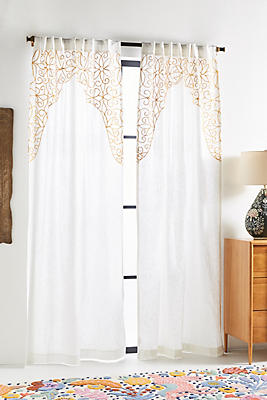 Slide View: 1: Embroidered Betina Curtain
