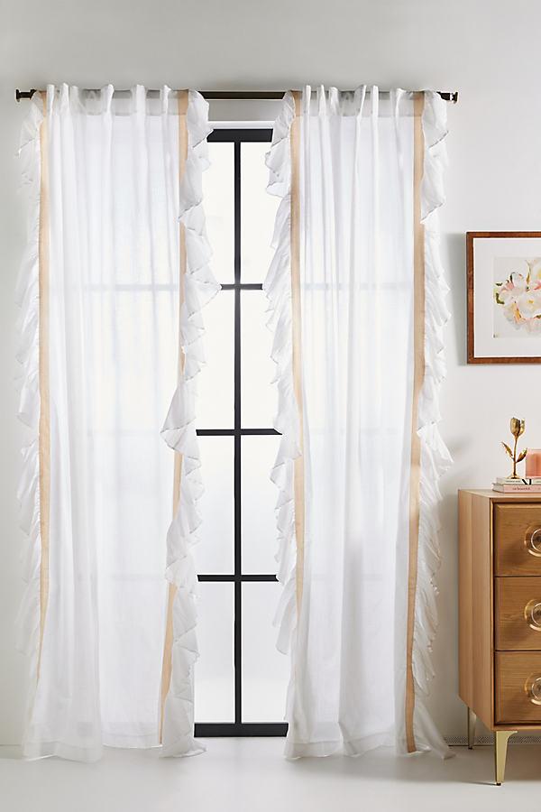 Layla Curtain - White, Size 50 X 84