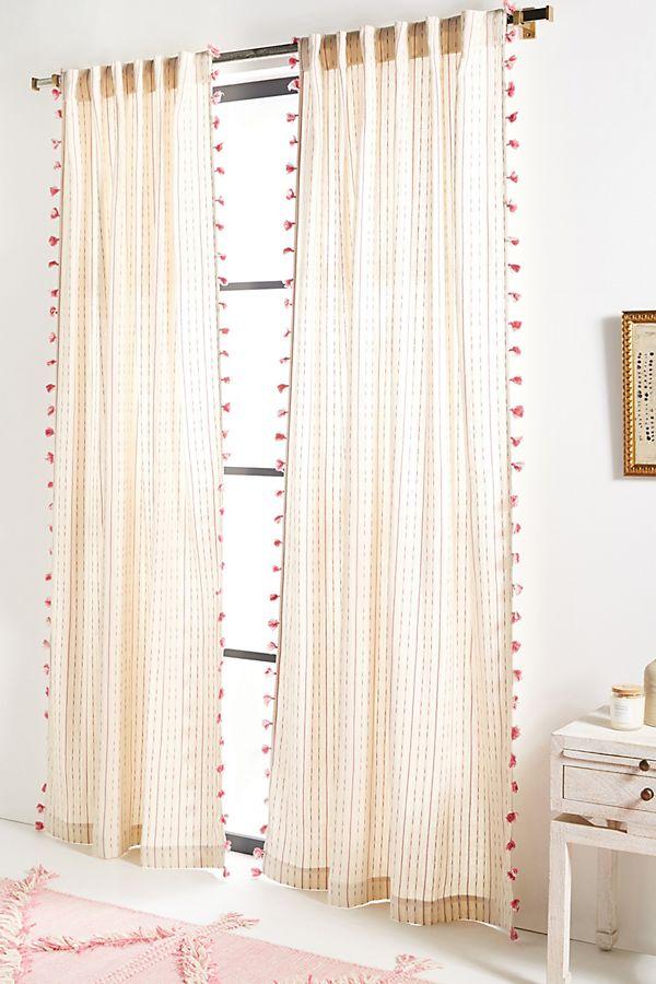 Slide View: 1: Tasseled Eisha Curtain