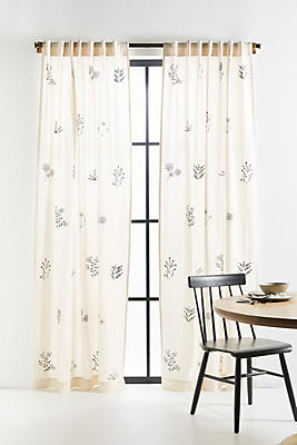 Slide View: 1: Embroidered Davi Curtain
