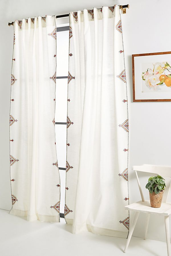 Slide View: 1: Embroidered Isabella Curtain