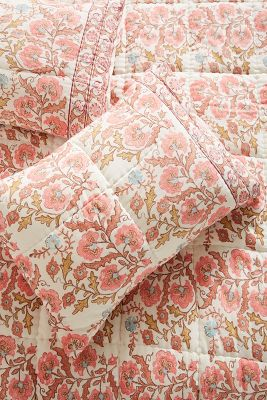 Block Printed Fields Shams by Artisan Quilts By Anthropologie