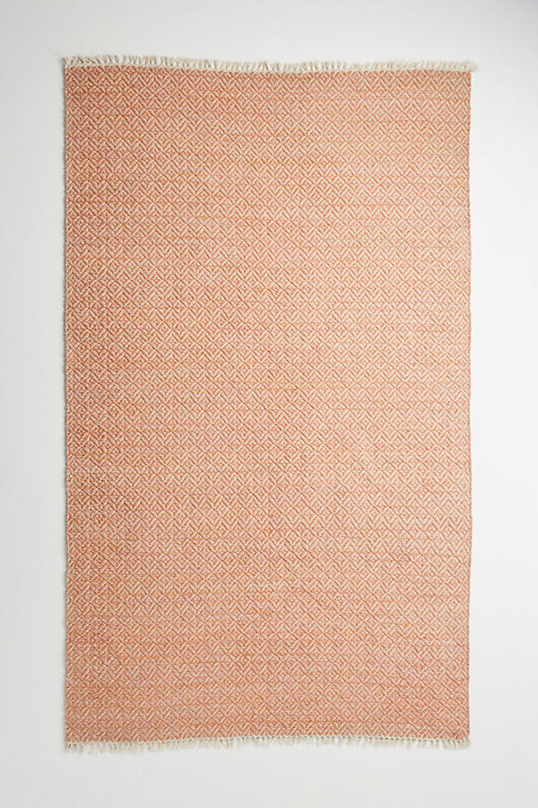 Ceanna Indoor/Oudoor Rug - Orange, Size 8 X 10