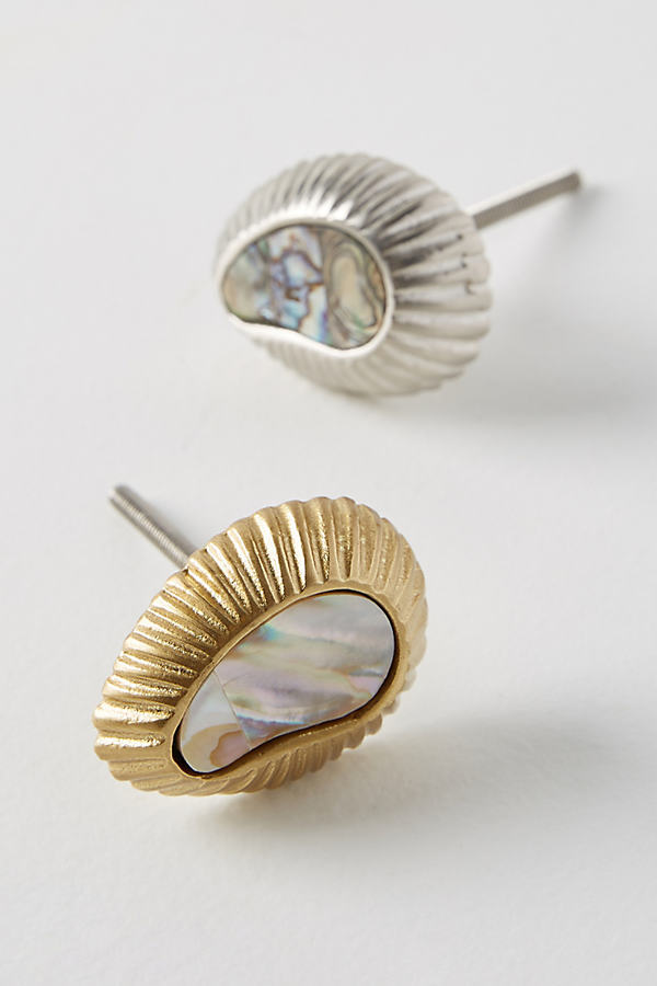 Mother-Of-Pearl Knob - Brown