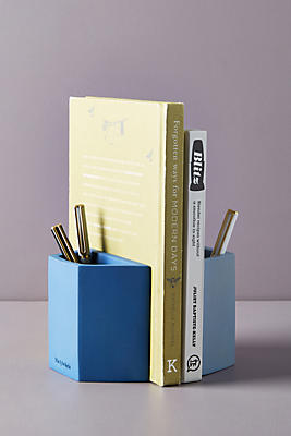Slide View: 1: Wit & Delight Concrete Pencil Holder