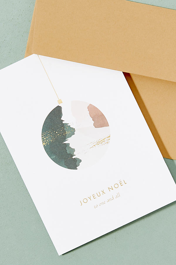 Joyeux Noel Card - Red