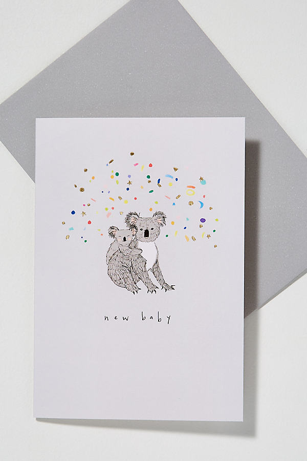 Koala-Print Card - Light Grey