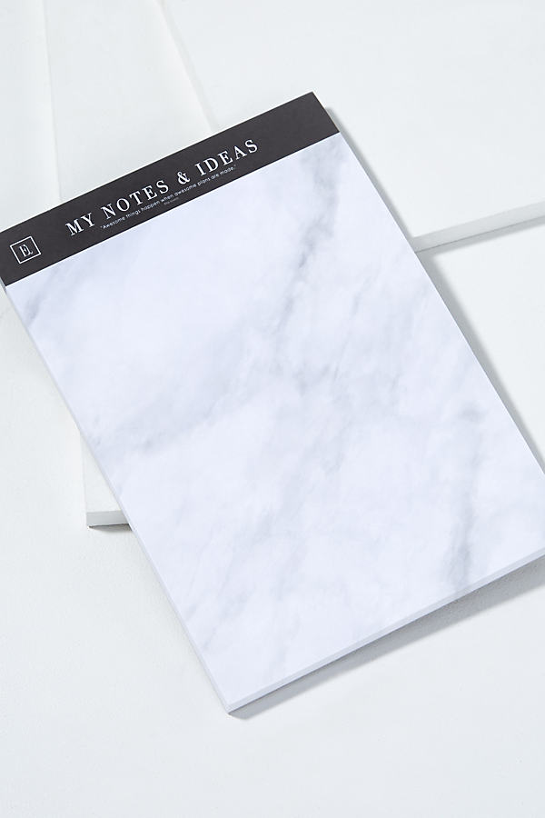 My Notes & Ideas Notepad - White