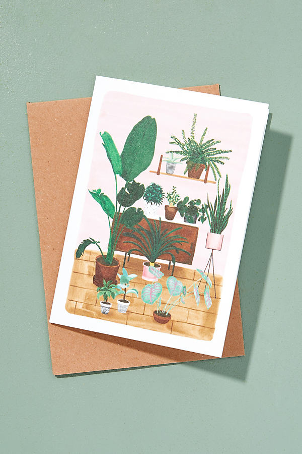 Lush Living Card - Green Motif
