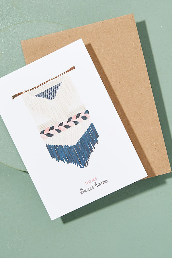 Home Sweet Home Card - Cream