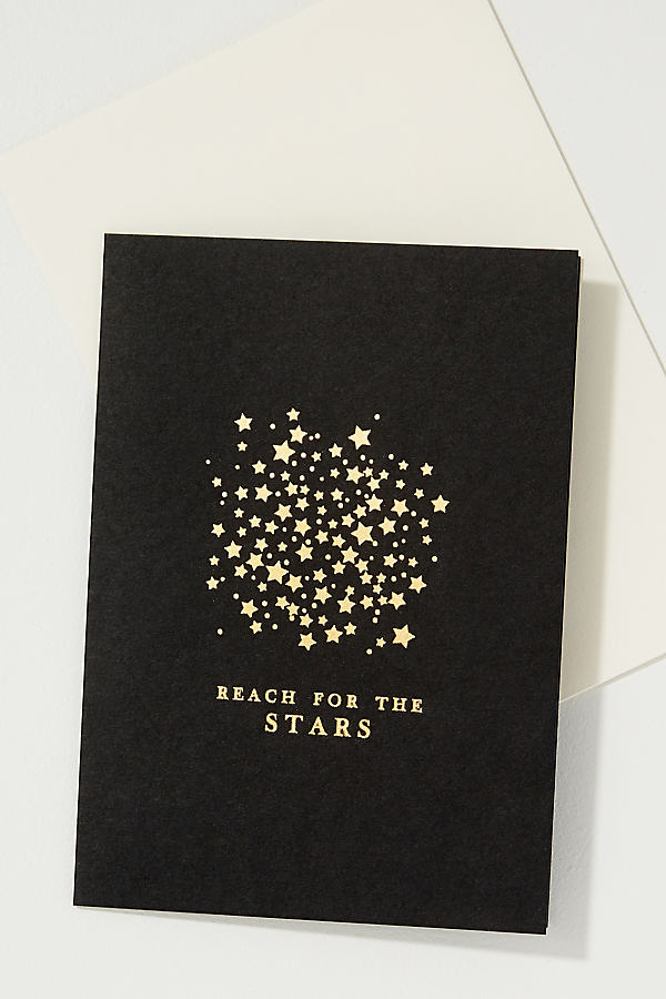 Reach For The Stars Card - Black