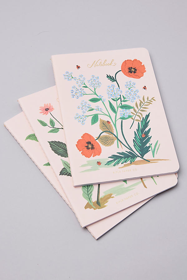 Set of 3 Rifle Paper Co. Notebooks