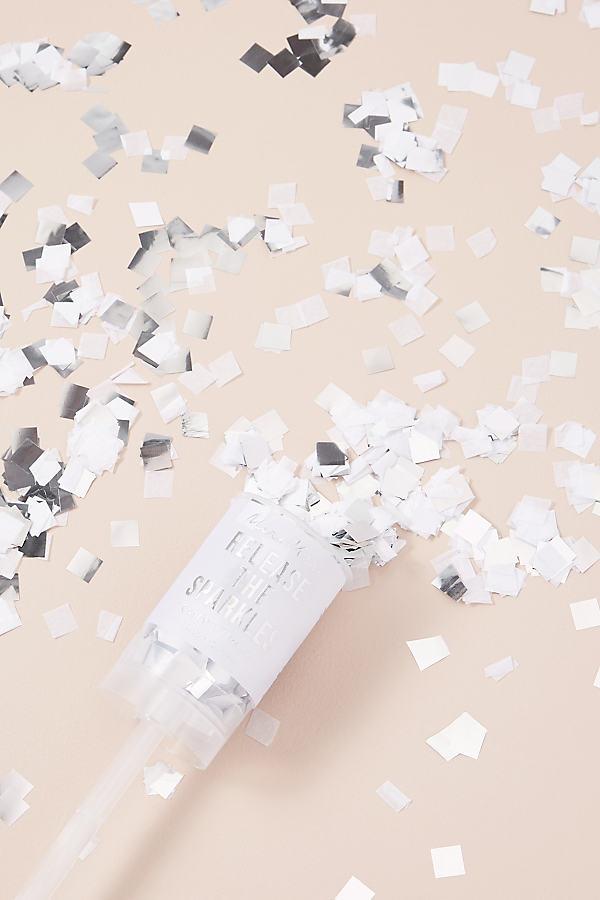 Sparkly Confetti Thrower - White